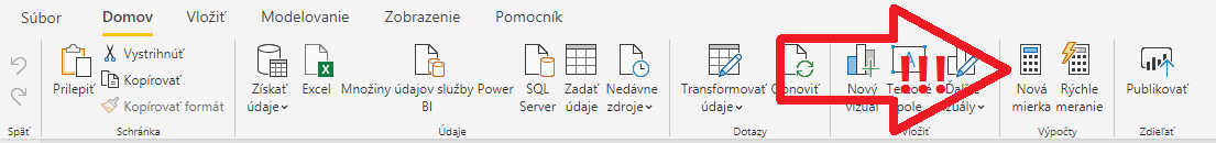 Nové menu Power BI Desktopu